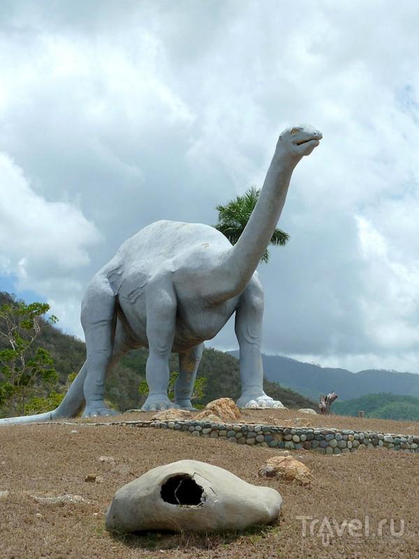 Похожий на съемочную площадку научно-популярных фильмов парк Valle de la Prehistoria / Куба