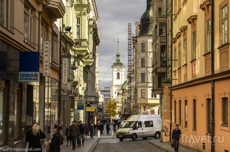 Улица Janska и костел Святого Яна  в Брно, Чехия / Фото из Чехии