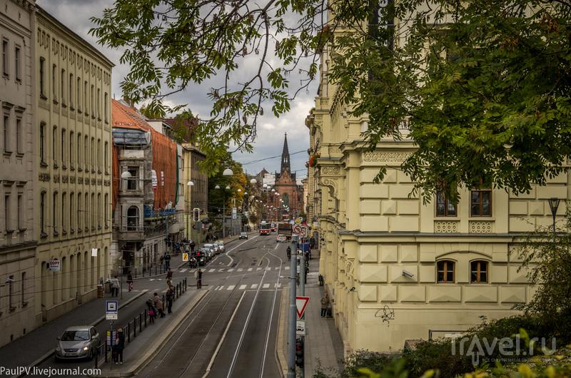 Улица Husova и костел Jana Amose Komenskeho в Брно, Чехия / Фото из Чехии