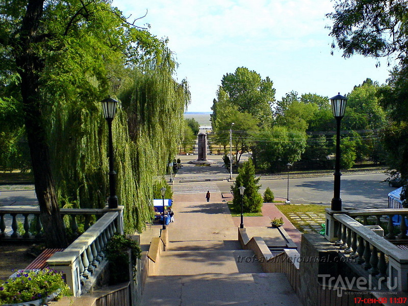 Каменная лестница в Таганроге, Россия / Фото из России