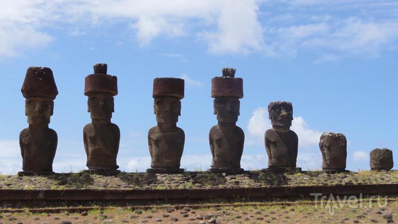 Моаи, Аху и Пукао / Чили