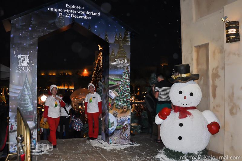 На рождественской ярмарке в Дубае, Эмираты / Фото из ОАЭ