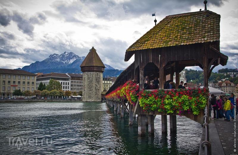 Мост Капелльбрюкке в Люцерне, Швейцария / Фото из Швейцарии