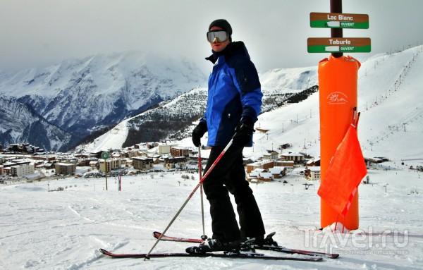 Зима бывает cо снегом. Французские Альпы, Alpe de Huez / Франция
