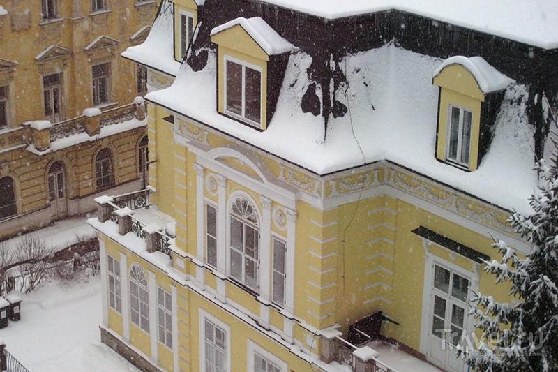 Марианские Лазне со снегом / Чехия
