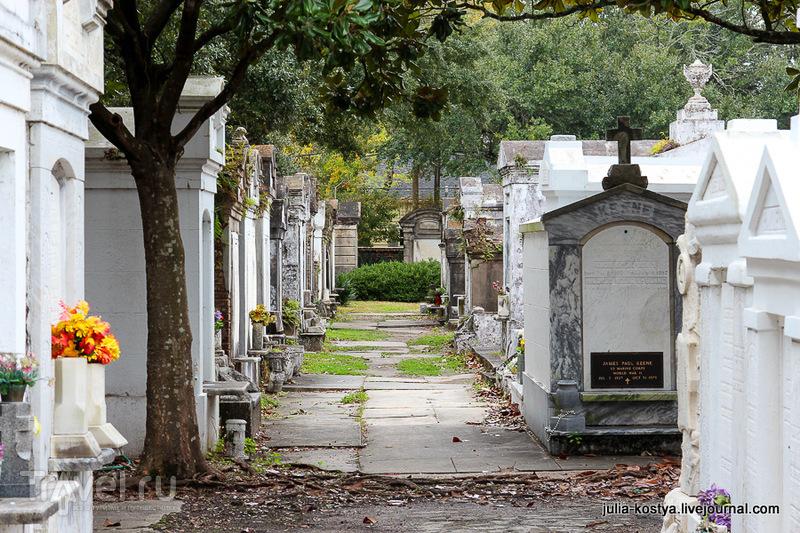 Кладбище Лафайет №1 в Новом Орлеане, США / Фото из США