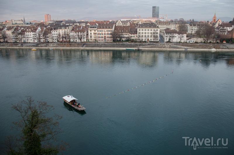Паромная переправа через Рейн в Базеле / Фото из Швейцарии