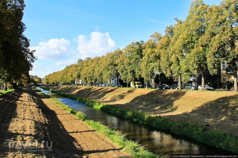 Река Mandau в Циттау, Германия / Фото из Германии