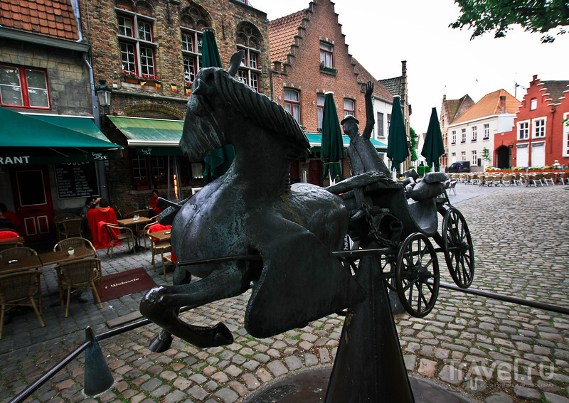 На улице Walplein в Брюгге, Бельгия / Фото из Бельгии