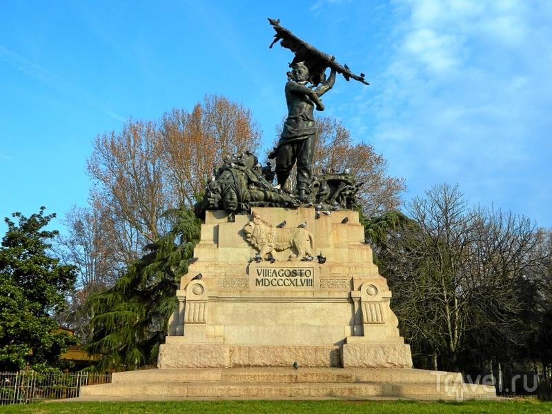 Памятник погибшим 8 августа 1848 года в Болонье, Италия / Фото из Италии
