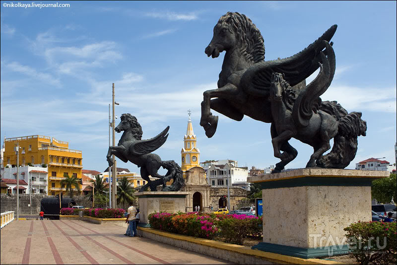 В городе Картахена, Колумбия / Фото из Колумбии