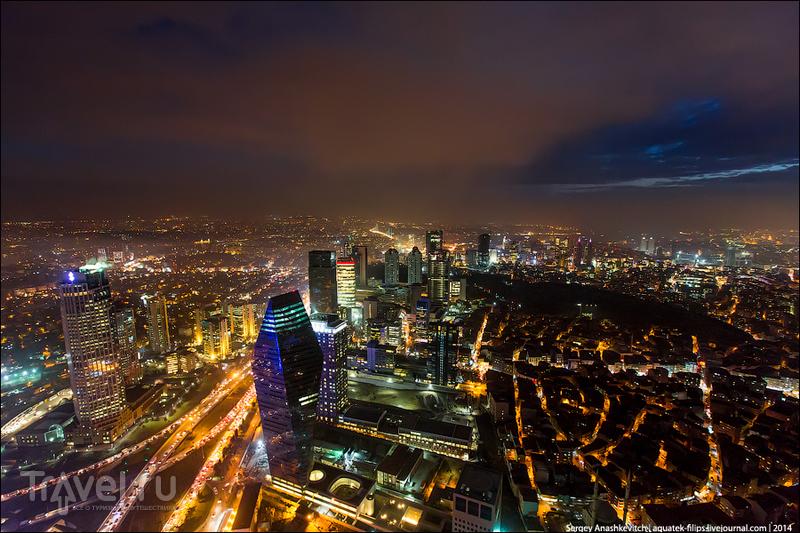 Ночной Стамбул с небоскреба / Фото из Турции