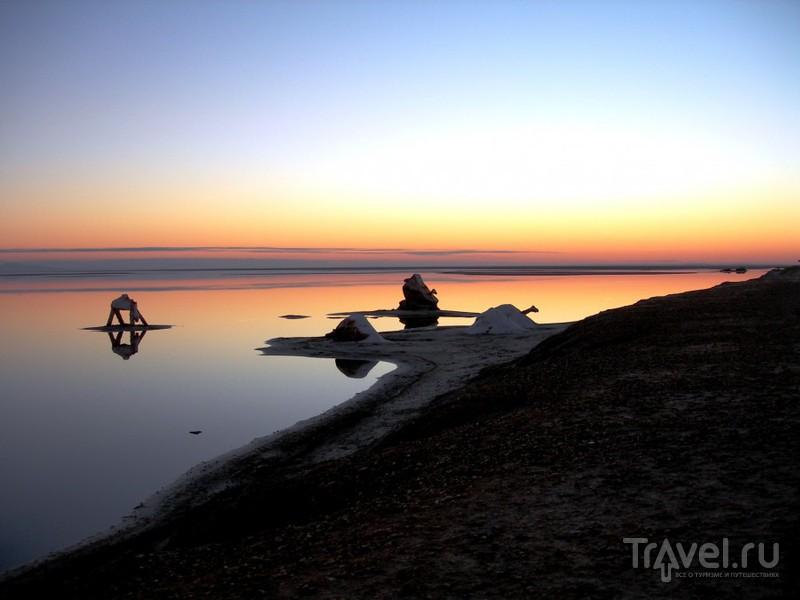 Озеро Шотт-Эль-Джерид в пустыне Сахара, Тунис / Фото из Туниса