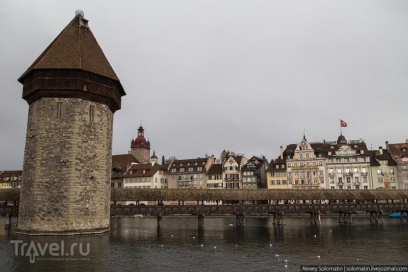 Башня Вассертурм в Люцерне, Швейцария / Фото из Швейцарии