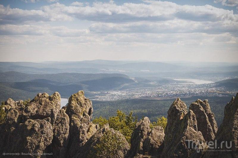 Вид на город Златоуст на Южном Урале, Россия / Фото из России
