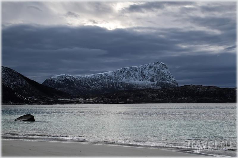 Пляж Haukland на Лофотенских островах, Норвегия / Фото из Норвегии