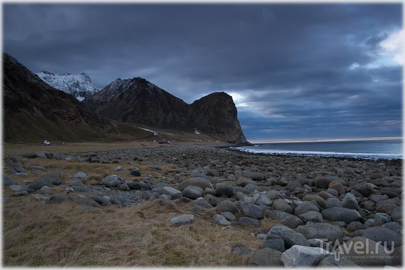 На пляже Unstad на Лофотенских островах, Норвегия / Фото из Норвегии