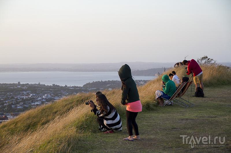 Закат на вулкане Эден. Окленд, Новая Зеландия / Фото из Новой Зеландии