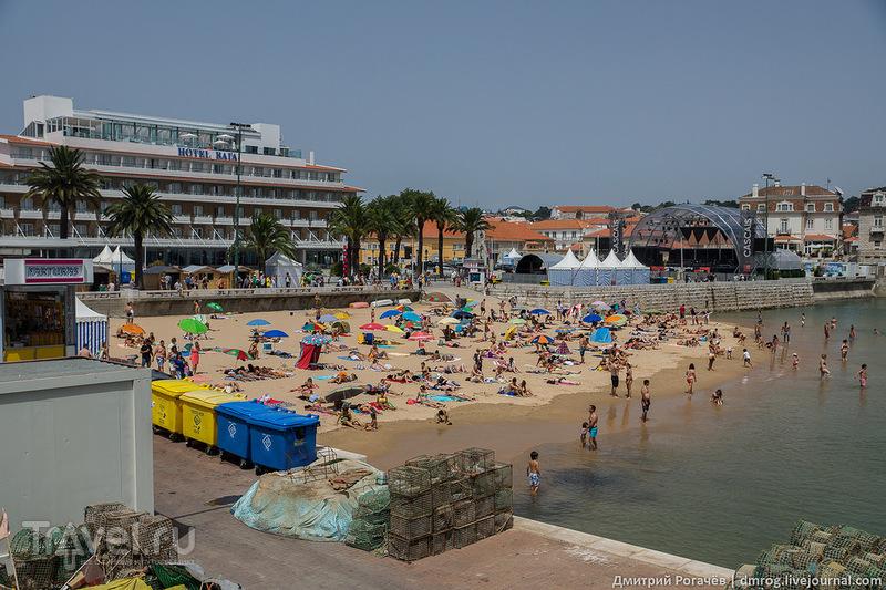 Кашкайша. Пляж рыбаков / Фото из Португалии