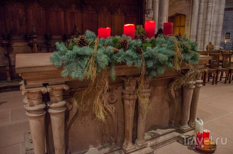 Декорации в соборе