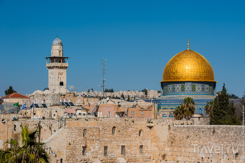 Иерусалим,. Ххрамова гора. Взгляд со стороны. / Фото из Израиля
