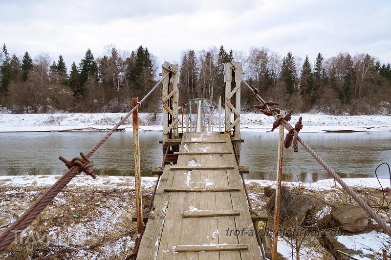Марково-Марс. Подвесной пешеходный мост через Москва-реку / Россия