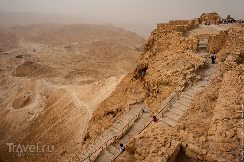 Крепость на скале. Масада, Израиль / Фото из Израиля