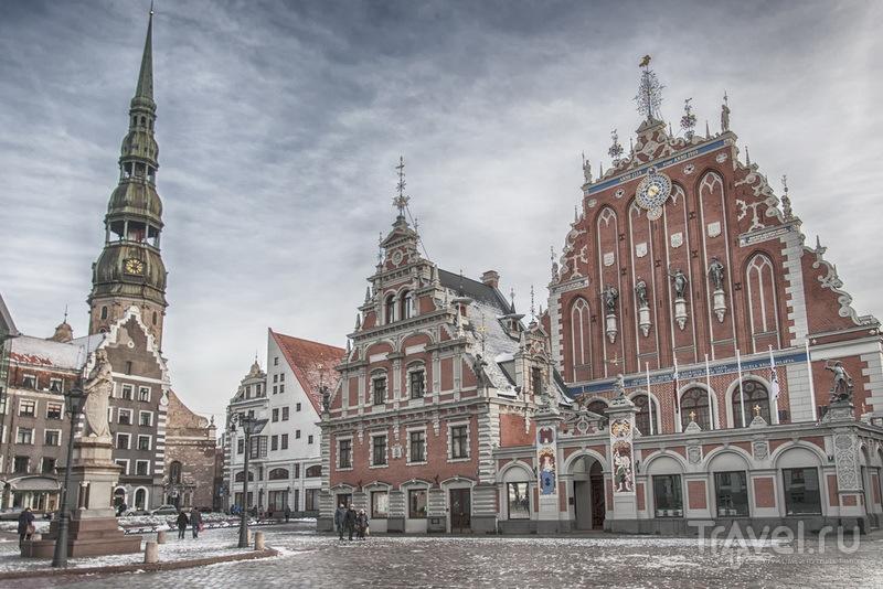 Дом Черноголовых на Ратушной площади в центре Риги