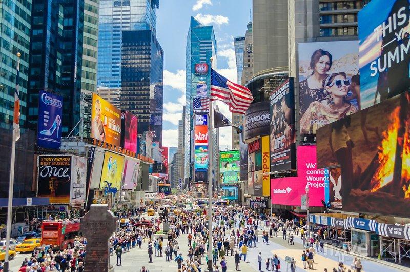 Бродвей - самая длинная улица Нью-Йорка