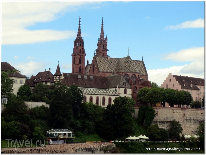 Базельский собор, вид с моста Веттштайнбрюке / Фото из Швейцарии