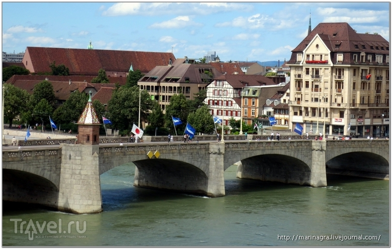 Средний мост (Mittlere Bruecke) и капелла Kaeppelijoch / Фото из Швейцарии