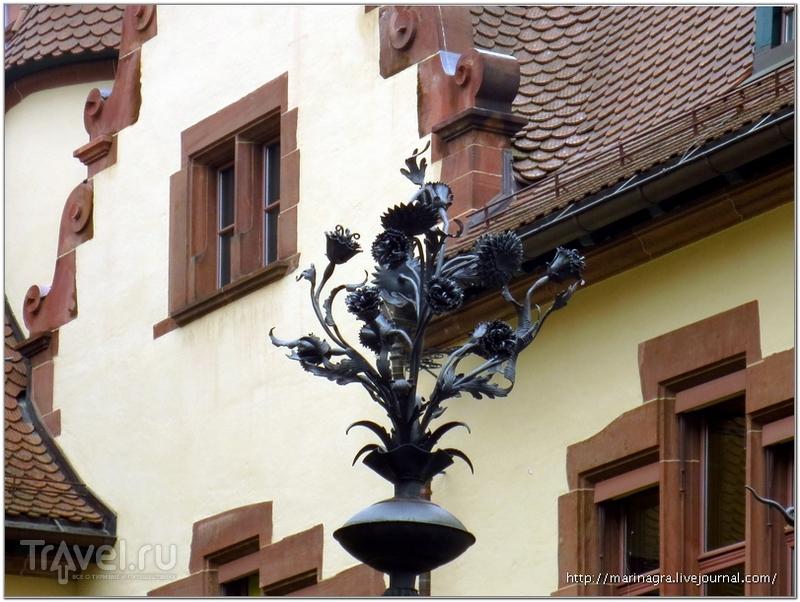 Фрагменты кованой ограды, здание государственного архива  / Фото из Швейцарии