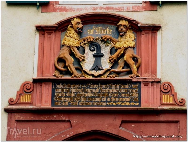 Исконно базельские львы с гербом города / Фото из Швейцарии