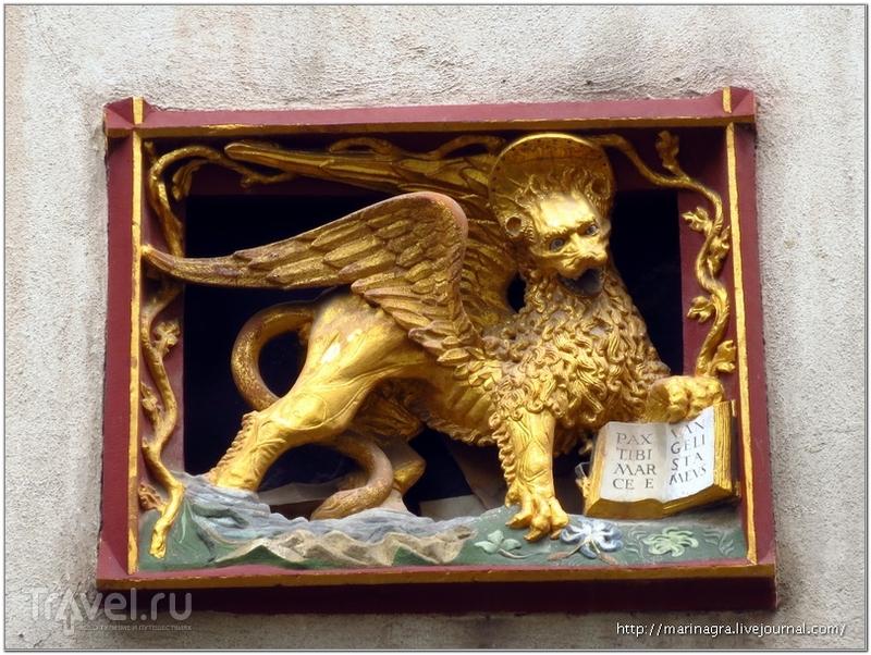Золотой венецианский лев над входом в бывшее венецианское подворье / Фото из Швейцарии