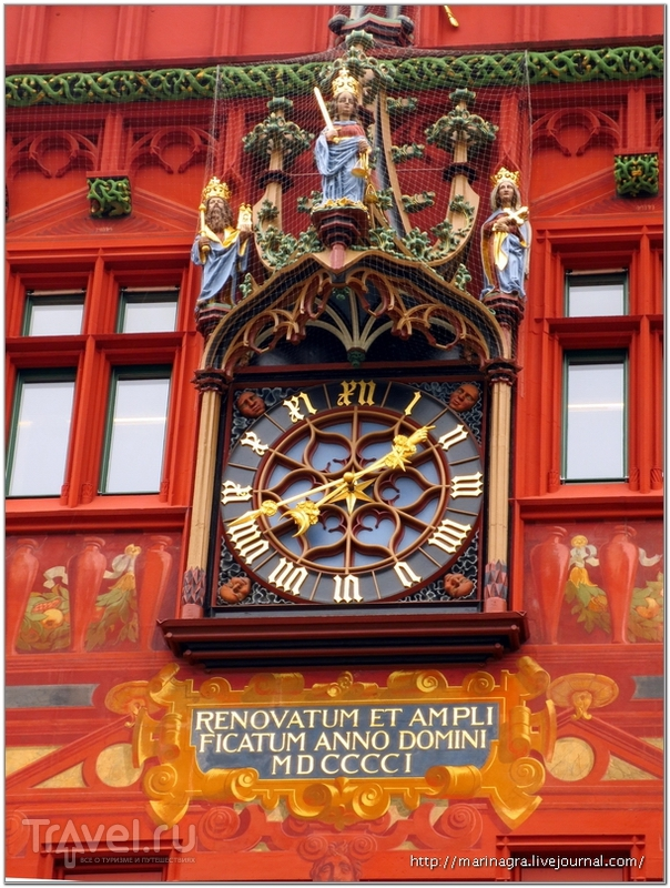 Часы, украшенные фигурами императора Генриха II и императрицы Кунигунды / Фото из Швейцарии