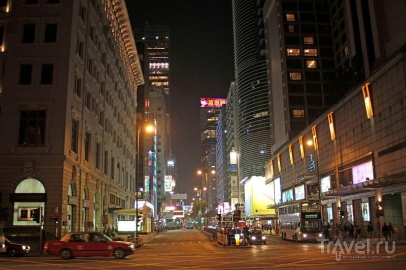 Ночной Гонконг. Пик Виктория и напротив / Китай