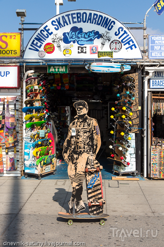 Американская Венеция, Калифорния, США: прогулки по улицам / Фото из США