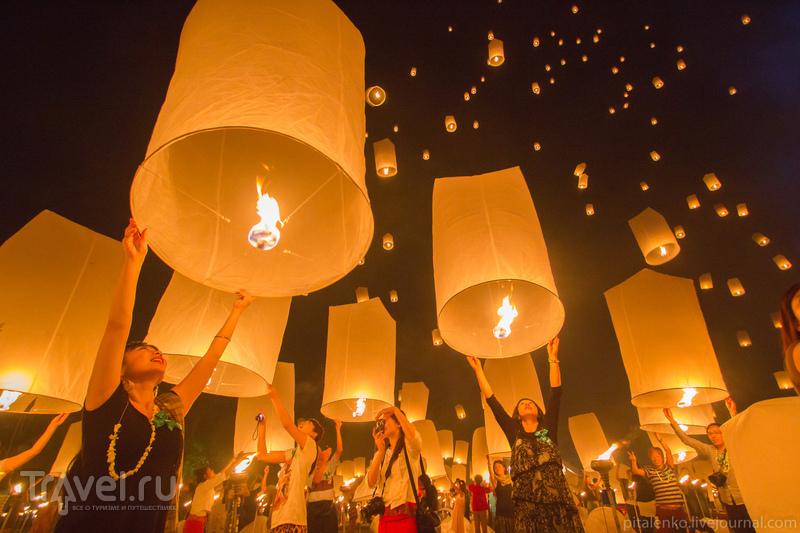 Таиланд. Праздник Loy Kratong. Запуск фонариков