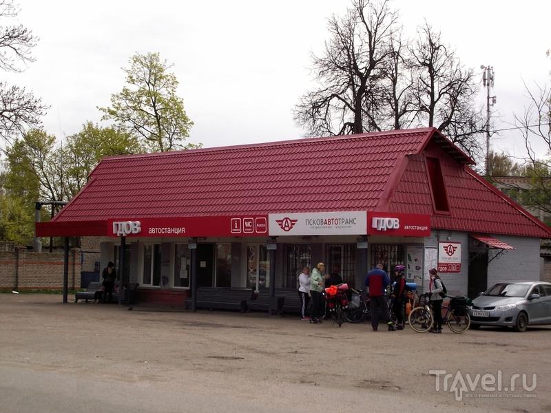 Гдов: дорога (Сланцы и Кингисепп), город и Чудское озеро / Россия