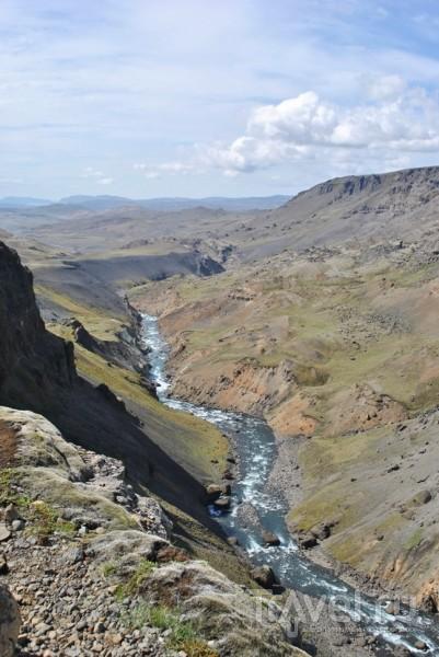 Водопад Háifoss (Хауифосс). Исландия / Исландия