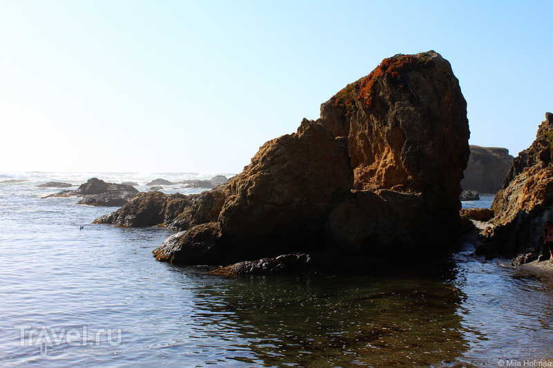 Калифорния: Стеклянный пляж около Fort Bragg / Фото из США