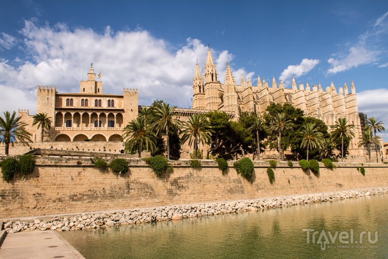 Дворец находится рядом с кафедральным собором на берегу моря