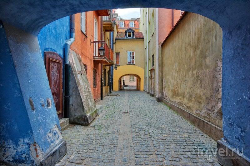Узкие улочки Старой Варшавы