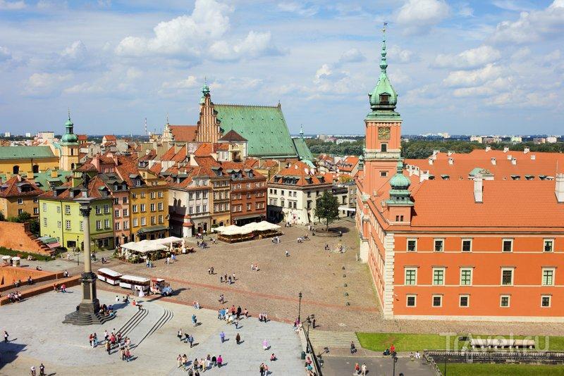 Вид на Замковую площадь Варшавы