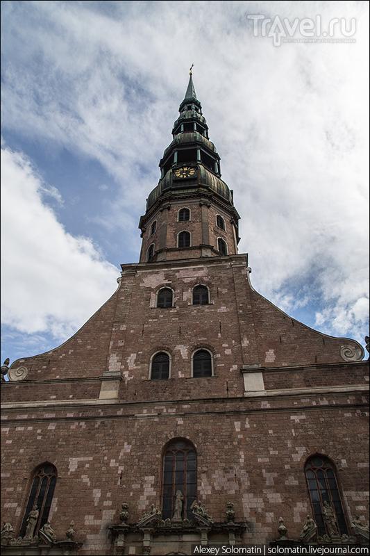 Колокольня церкви Святого Петра / Фото из Латвии