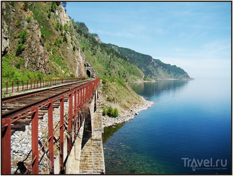 Кругобайкальская железная дорога (КБЖД) / Фото из России