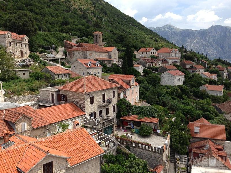 Вид на Пераст с колокольни у Боко-Которского залива / Фото из Черногории