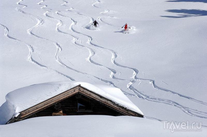 Лыжники в Валь Ди Фьемме