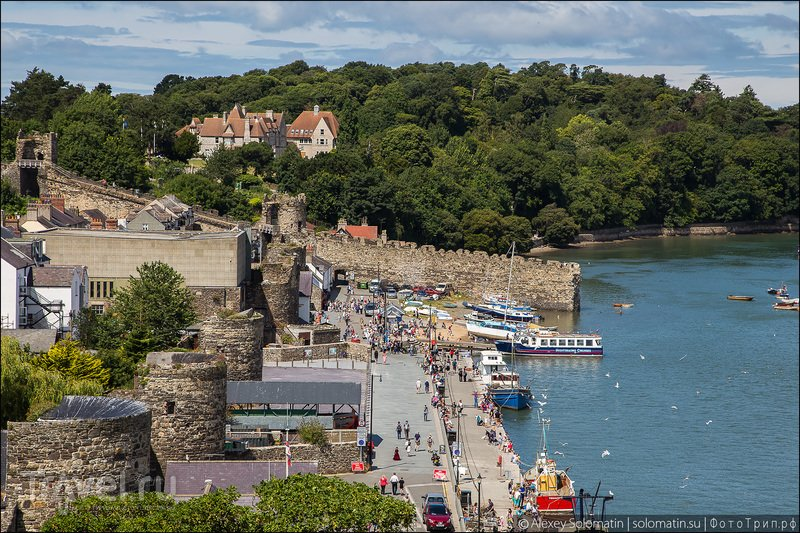 Уэльс. Городок Conwy. Вид с замка / Великобритания