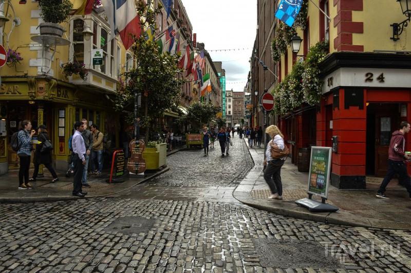 Темпл Бар и замок в Дублине / Ирландия